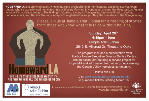 Homeward LA - This Sunday, April 28, at 6:45 pm
